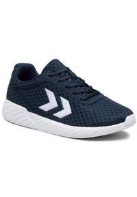 Niebieskie buty sportowe Hummel z cholewką, na co dzień