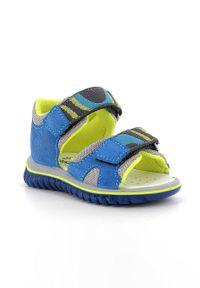 Niebieskie sandały Primigi na rzepy