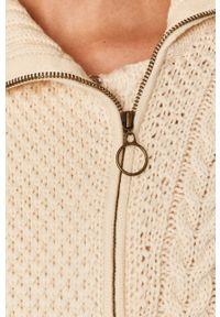 Beżowy sweter rozpinany TwinSet na co dzień, z golfem, casualowy