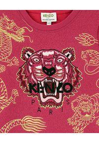 Kenzo kids - KENZO KIDS - Sukienka Tiger 2-12 lat. Kolor: różowy, wielokolorowy, fioletowy. Materiał: materiał. Wzór: haft, aplikacja, nadruk. Sezon: lato. Typ sukienki: rozkloszowane #4