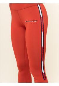 Czerwone legginsy sportowe Tommy Sport