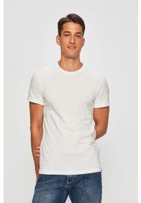 Biały t-shirt Levi's® na spotkanie biznesowe, biznesowy, w kolorowe wzory, z okrągłym kołnierzem