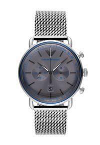 Emporio Armani - Zegarek AR11383. Kolor: srebrny. Materiał: materiał