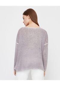 HEMISPHERE - Sweter z kaszmiru. Kolor: szary. Materiał: kaszmir. Wzór: ze splotem. Sezon: jesień, zima. Styl: klasyczny