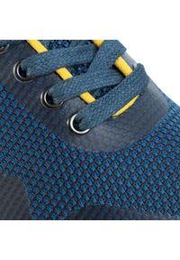 Niebieskie półbuty Blauer z cholewką, casualowe, na co dzień
