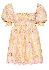 For Love & Lemons Sukienka letnia Claire CD2343 Kolorowy Regular Fit. Wzór: kolorowy. Sezon: lato