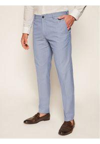 TOMMY HILFIGER - Tommy Hilfiger Tailored Spodnie materiałowe Flex Structure TT0TT07846 Niebieski Slim Fit. Kolor: niebieski. Materiał: materiał