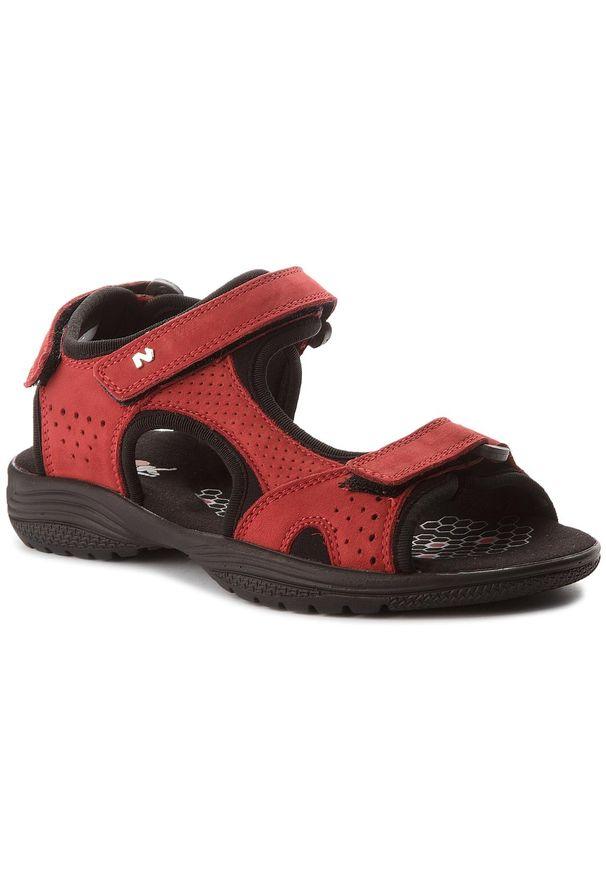 Czerwone sandały Nik na co dzień, casualowe