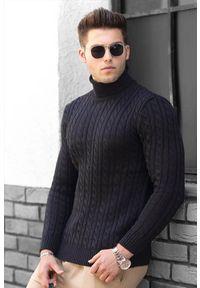 Czarny sweter IVET na zimę, z golfem