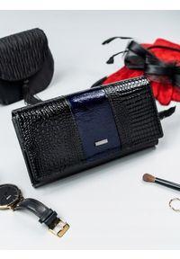 Niebieski portfel 4U CAVALDI w kolorowe wzory
