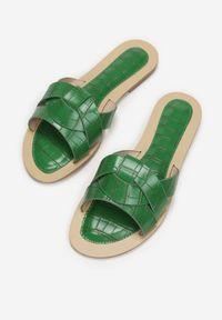 Renee - Zielone Klapki Tharaseseus. Kolor: zielony