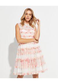 NEEDLE & THREAD - Sukienka mini Memory Rose. Kolor: biały. Materiał: tiul. Wzór: kropki. Styl: vintage. Długość: mini