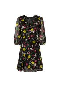 Liu Jo - Liu-Jo Sukienka. Okazja: na co dzień. Materiał: tkanina. Typ sukienki: proste, kopertowe. Styl: casual. Długość: mini