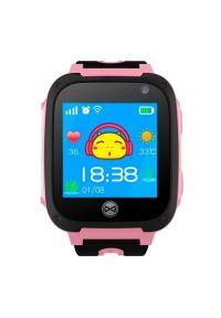 Różowy zegarek FOREVER smartwatch