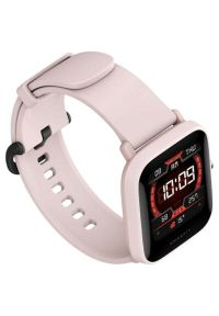 Różowy zegarek AMAZFIT smartwatch, sportowy