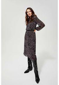 Sukienka MOODO w geometryczne wzory, casualowa, na co dzień