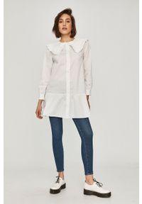 Biała koszula Answear Lab długa, wakacyjna