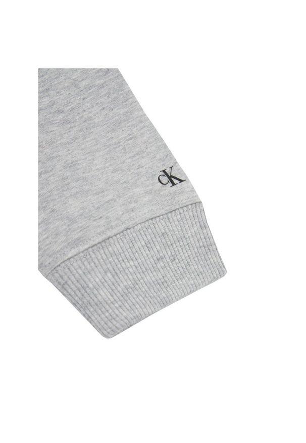 Szara bluza Calvin Klein Jeans z nadrukiem