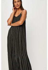 Czarna sukienka ANSWEAR maxi, wakacyjna, na ramiączkach