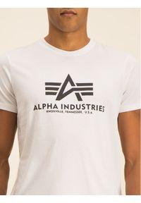 Alpha Industries T-Shirt Basic 100501 Biały Regular Fit. Kolor: biały