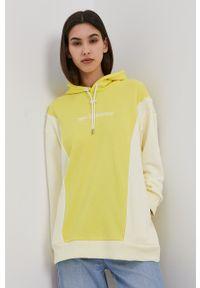 New Balance - Bluza. Okazja: na co dzień. Kolor: żółty. Długość rękawa: długi rękaw. Długość: długie. Styl: casual