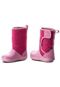 Crocs Śniegowce Lodgepoint Snow Boot K 204660 Różowy. Kolor: różowy