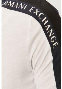 Armani Exchange - Longsleeve. Okazja: na co dzień. Kolor: biały. Materiał: dzianina. Długość rękawa: długi rękaw. Styl: casual