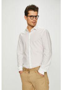 Biała koszula Calvin Klein z klasycznym kołnierzykiem, klasyczna