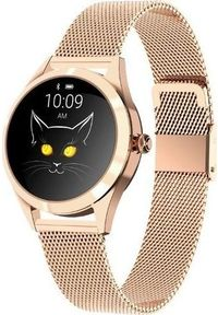 Złoty zegarek KingWear smartwatch