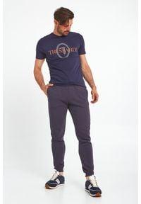 Trussardi Jeans - T-SHIRT TRUSSARDI. Okazja: na co dzień. Materiał: bawełna. Wzór: nadruk. Styl: casual