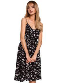 Sukienka MOE na co dzień, w kwiaty, na ramiączkach