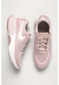 Różowe buty sportowe Nike z cholewką, na obcasie, na sznurówki, do biegania