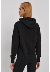 Superdry - Bluza bawełniana. Typ kołnierza: kaptur. Kolor: czarny. Materiał: bawełna. Długość rękawa: długi rękaw. Długość: długie. Wzór: nadruk