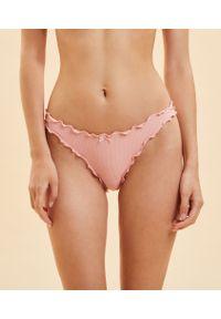 Amber Majtki Tanga Bloomer Z Mikrofibry - S - Różowy - Etam. Kolor: różowy. Materiał: mikrofibra