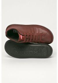 Brązowe sneakersy Camper na sznurówki, z cholewką