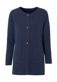 Cellbes Sweter granatowy female niebieski 58/60. Kolor: niebieski. Materiał: dzianina. Długość rękawa: długi rękaw. Długość: długie