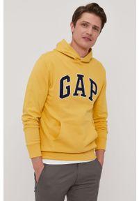 Żółta bluza nierozpinana GAP z aplikacjami, casualowa, na co dzień