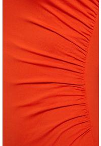 Czerwony strój kąpielowy Michael Kors z fiszbinami