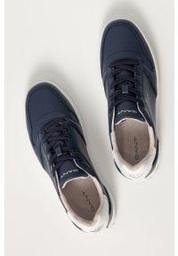 Niebieskie sneakersy GANT z cholewką, z okrągłym noskiem