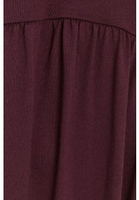 Jacqueline de Yong - Sukienka. Okazja: na co dzień. Kolor: fioletowy. Materiał: dzianina. Długość rękawa: długi rękaw. Wzór: gładki. Typ sukienki: proste. Styl: casual
