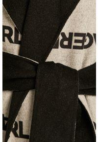 Czarny płaszcz Karl Lagerfeld na co dzień, klasyczny, bez kaptura #6