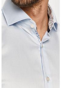 Niebieska koszula Hugo długa, z włoskim kołnierzykiem
