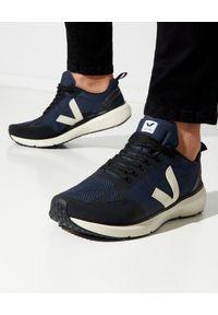Veja - VEJA - Sneakersy Condor 2 Nautico Pierre. Kolor: czarny. Materiał: poliester, guma. Szerokość cholewki: normalna. Wzór: aplikacja