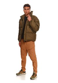 TOP SECRET - Pikowana kurtka typu puffer. Kolor: brązowy