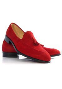 Czerwone półbuty Faber klasyczne, bez zapięcia