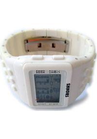 Zegarek Lovrin BIAŁY ZEGAREK DAMSKI WODOODPORNY SZEROKA BRANSOLETA. Kolor: biały