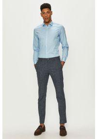 Premium by Jack&Jones - Koszula. Typ kołnierza: kołnierzyk klasyczny. Kolor: fioletowy. Materiał: tkanina. Wzór: gładki. Styl: klasyczny