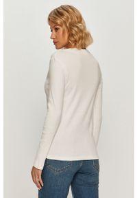 Biała bluzka z długim rękawem Lacoste na co dzień, casualowa