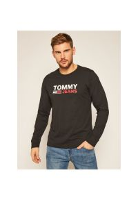 Czarna koszulka z długim rękawem Tommy Jeans