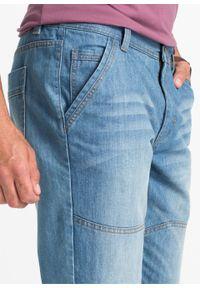 Dżinsy 3/4 Regular Fit Tapered bonprix niebieski denim. Okazja: na co dzień. Kolor: niebieski. Styl: casual